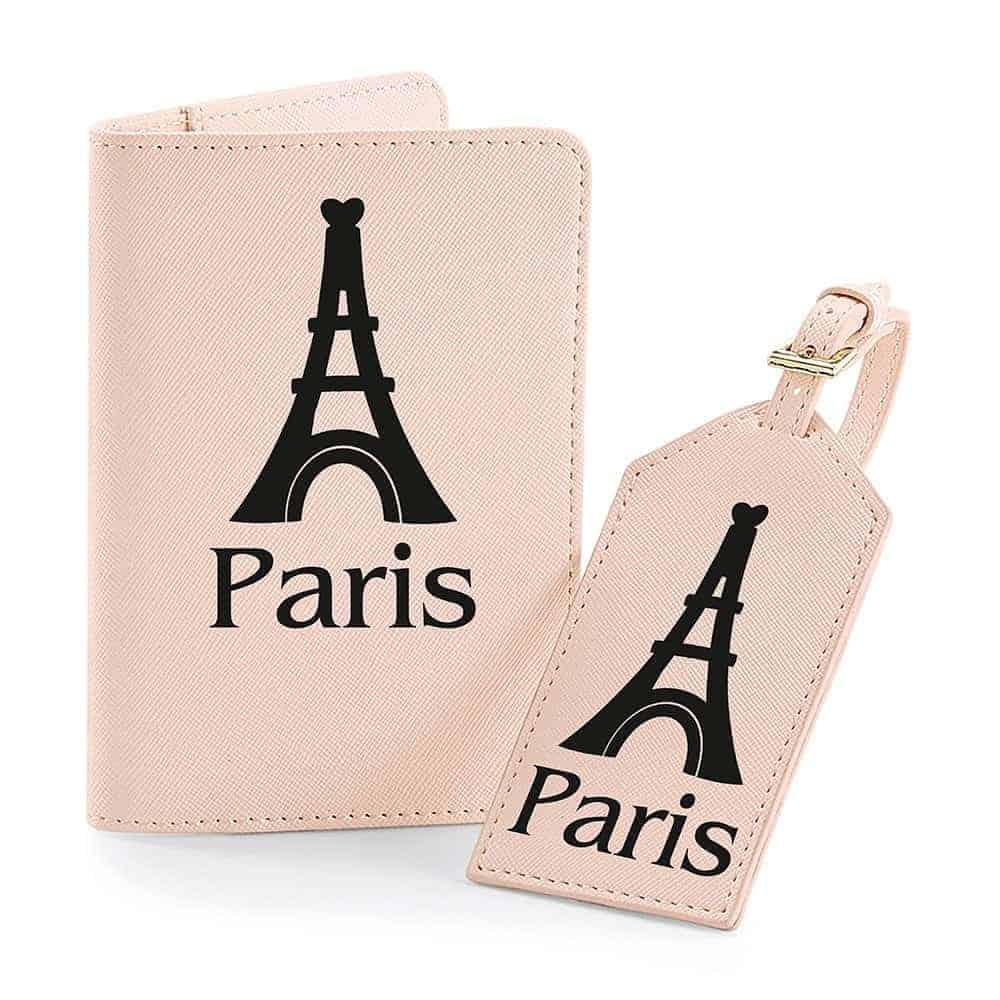 Personalised Travel Set Soft Pink Printed