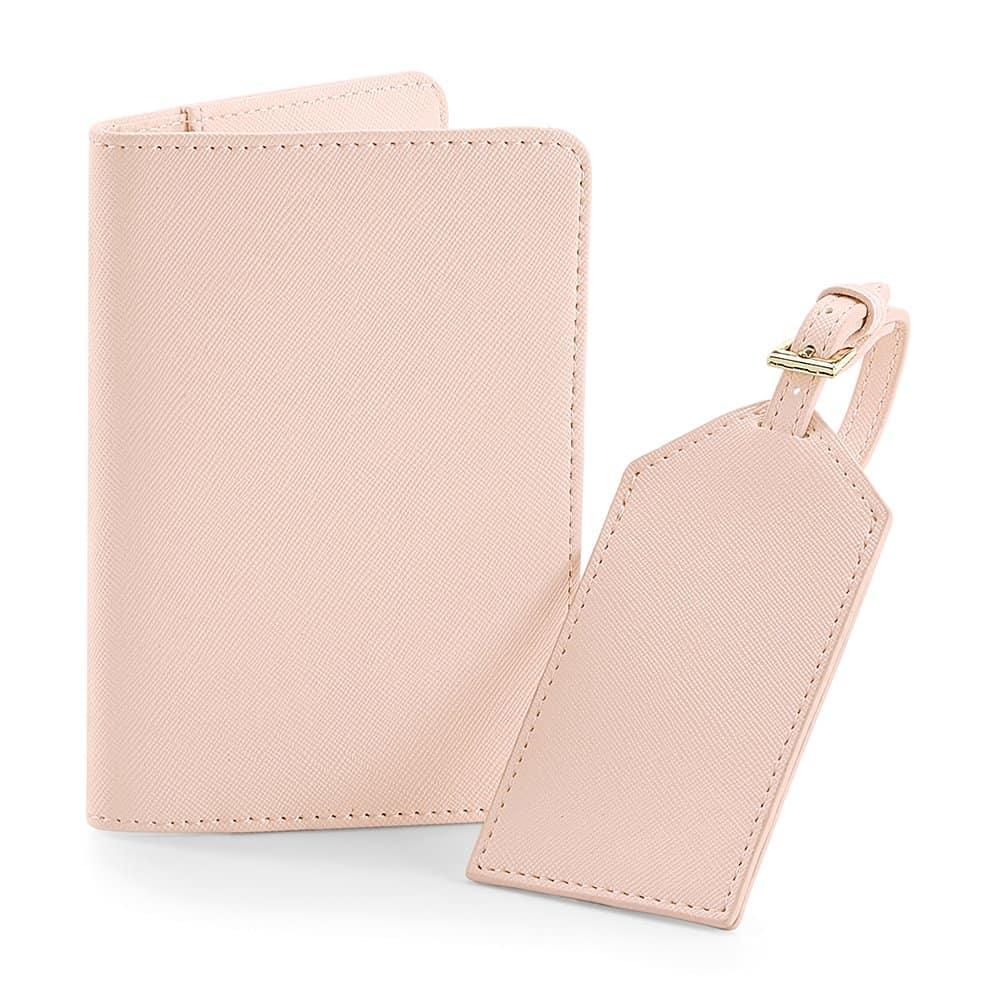 Personalised Travel Set Soft Pink