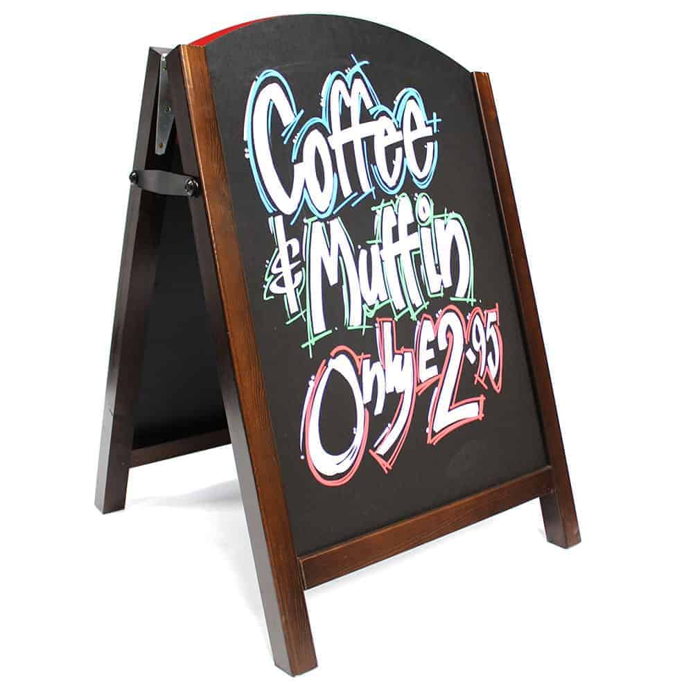 Premium Chalk A Board Pavement Sign Wood