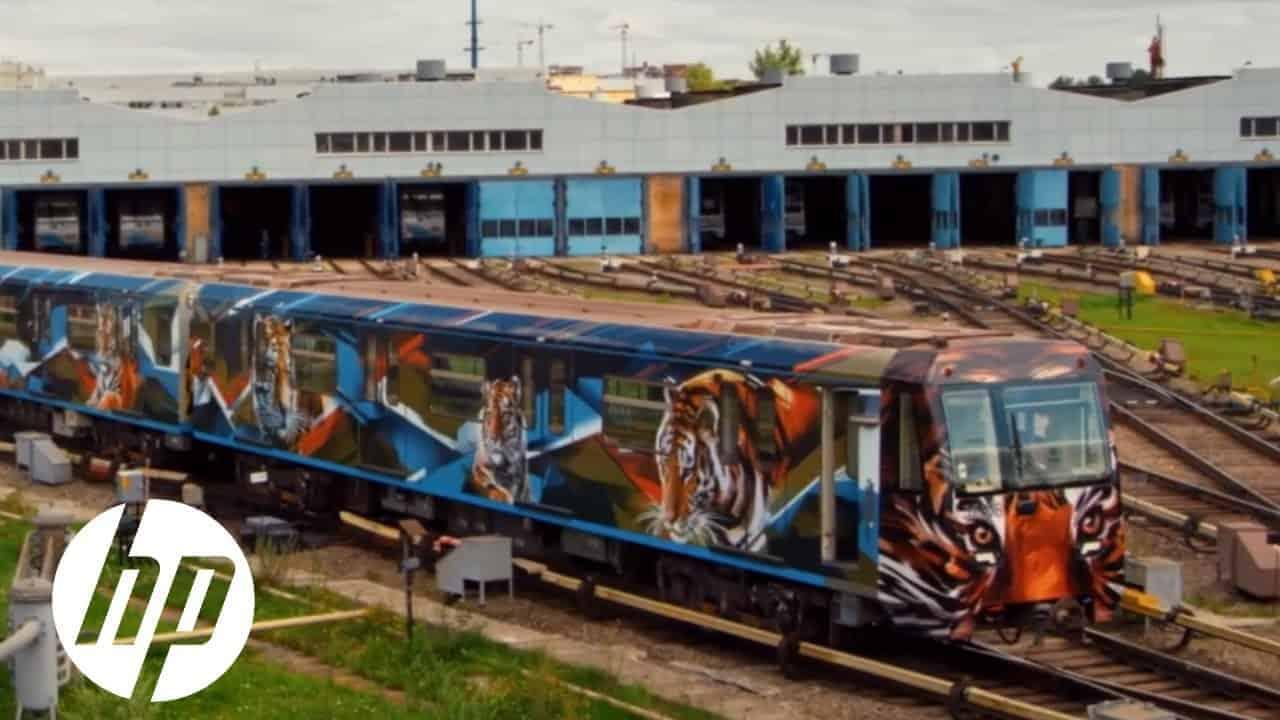 Striped Train External Graphics