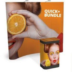 Quick Plus 3×2 Pop Up Stand Curved Bundle