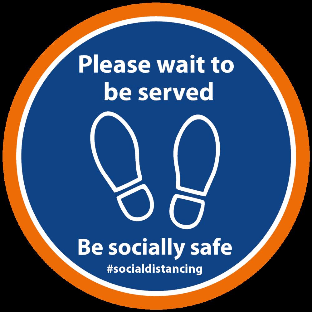 Blue-Orange - Please Wait to be served