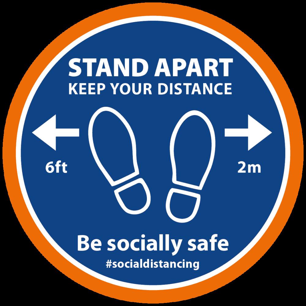 Blue-Orange - Stand Apart Feet Image