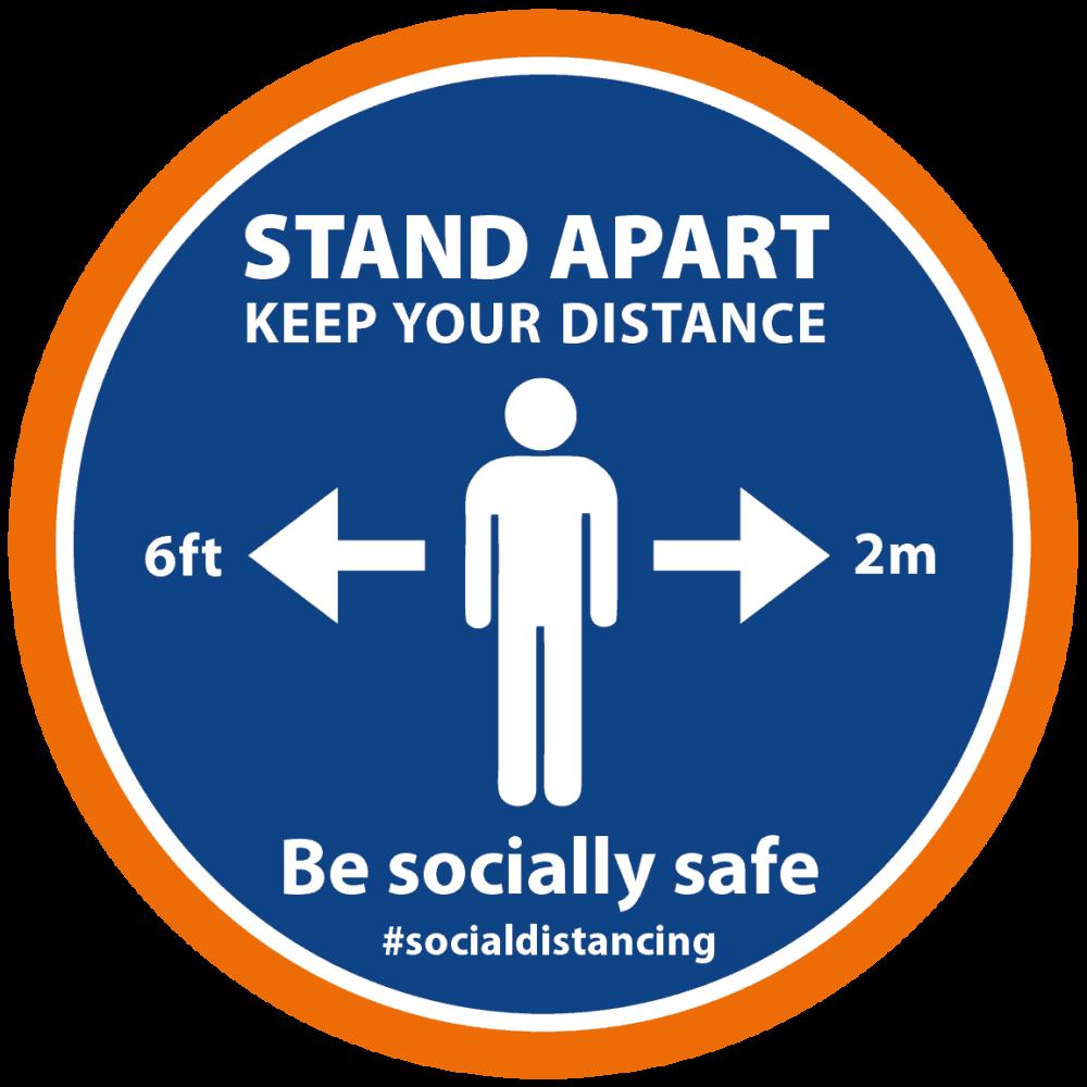 Blue-Orange - Stand Apart Man Image