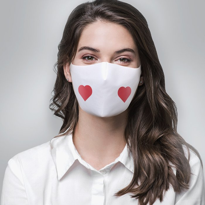 Facemask heart700 | Fantasy Prints