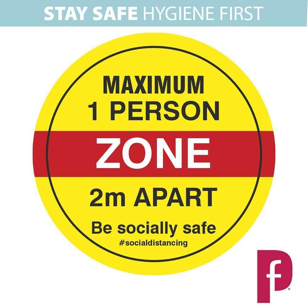 Maximum One Person Zone