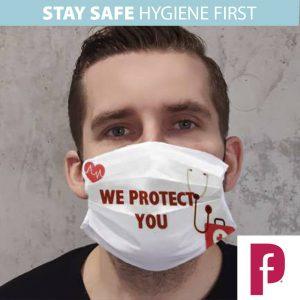 Premium Fabric Face Mask Printed