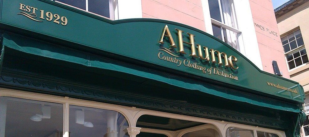 Shop Signs designs and manufactured