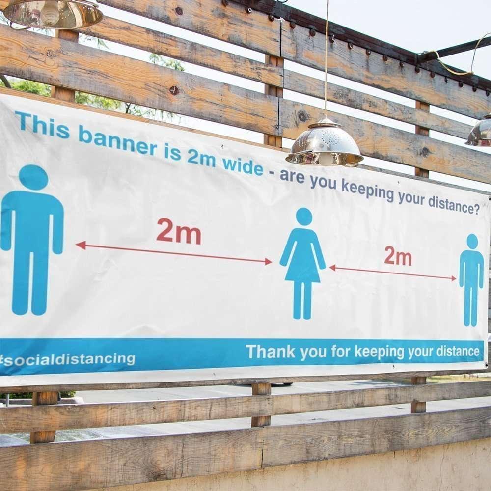 Social Distancing Banner4 in situ