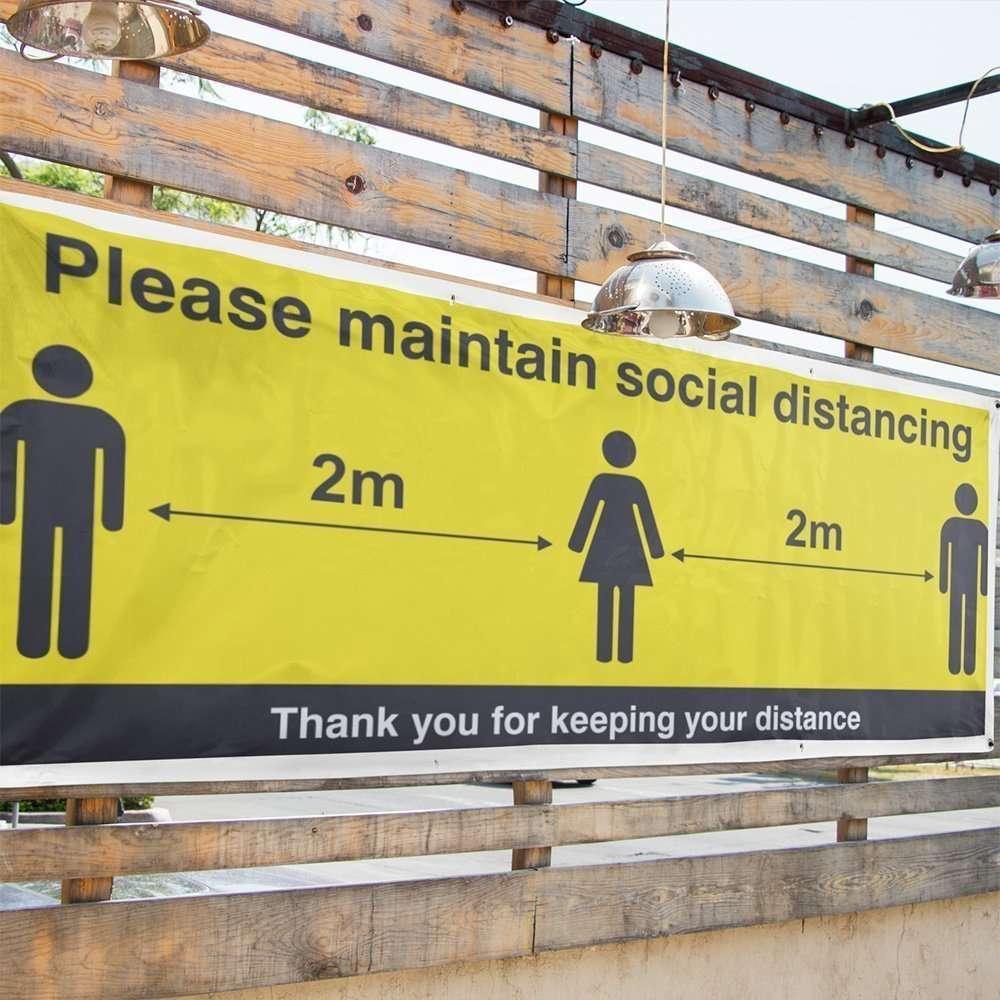 Social Distancing Banner5 in situ