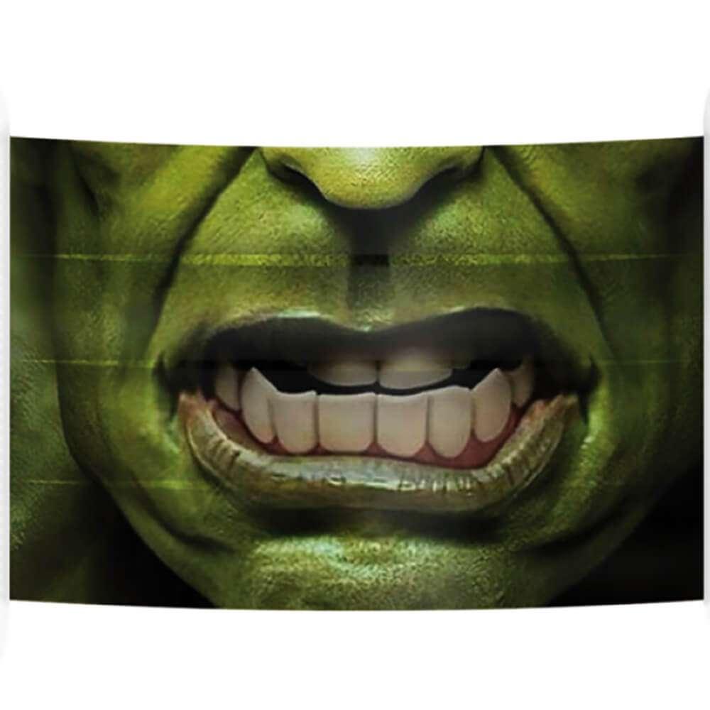 breathable mask hulk design | Fantasy Prints