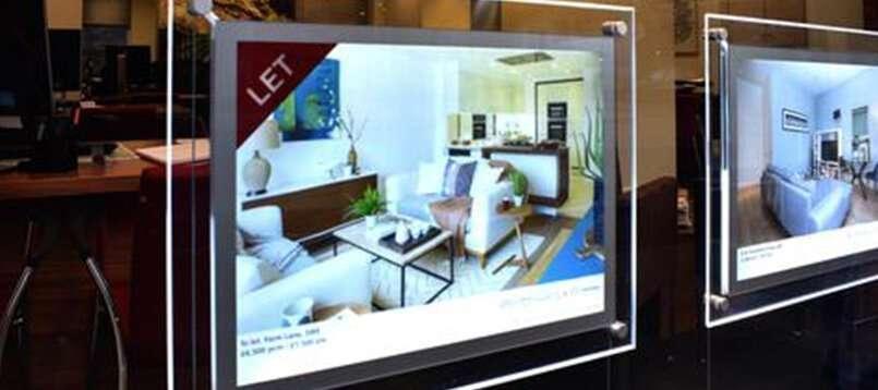 estate agent window display