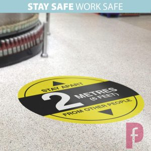 2m Floor Stickers for Shops, Offices & Schools