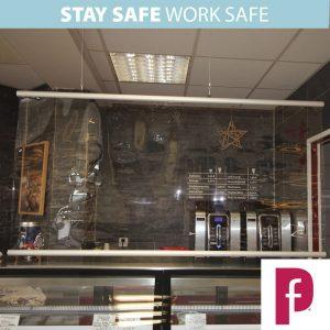 COVID-19 Hanging Protection Screen Premium