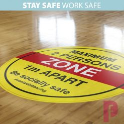 Maximum Persons Zone Floor Stickers2