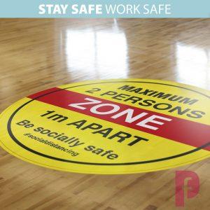 Maximum Persons Zone Floor Stickers2