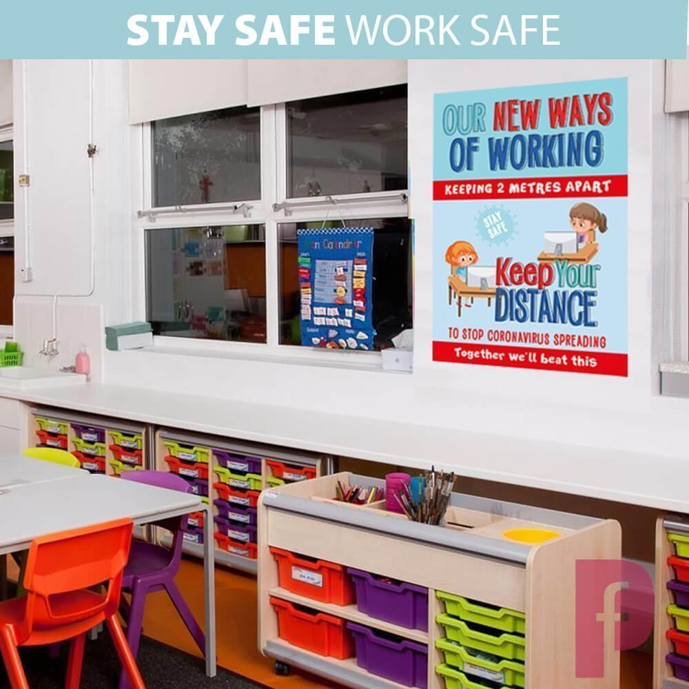 School Nursery Social Distancing Wall Stickers