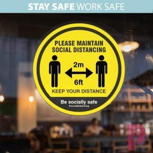 Shop Social Distancing Window Stickers
