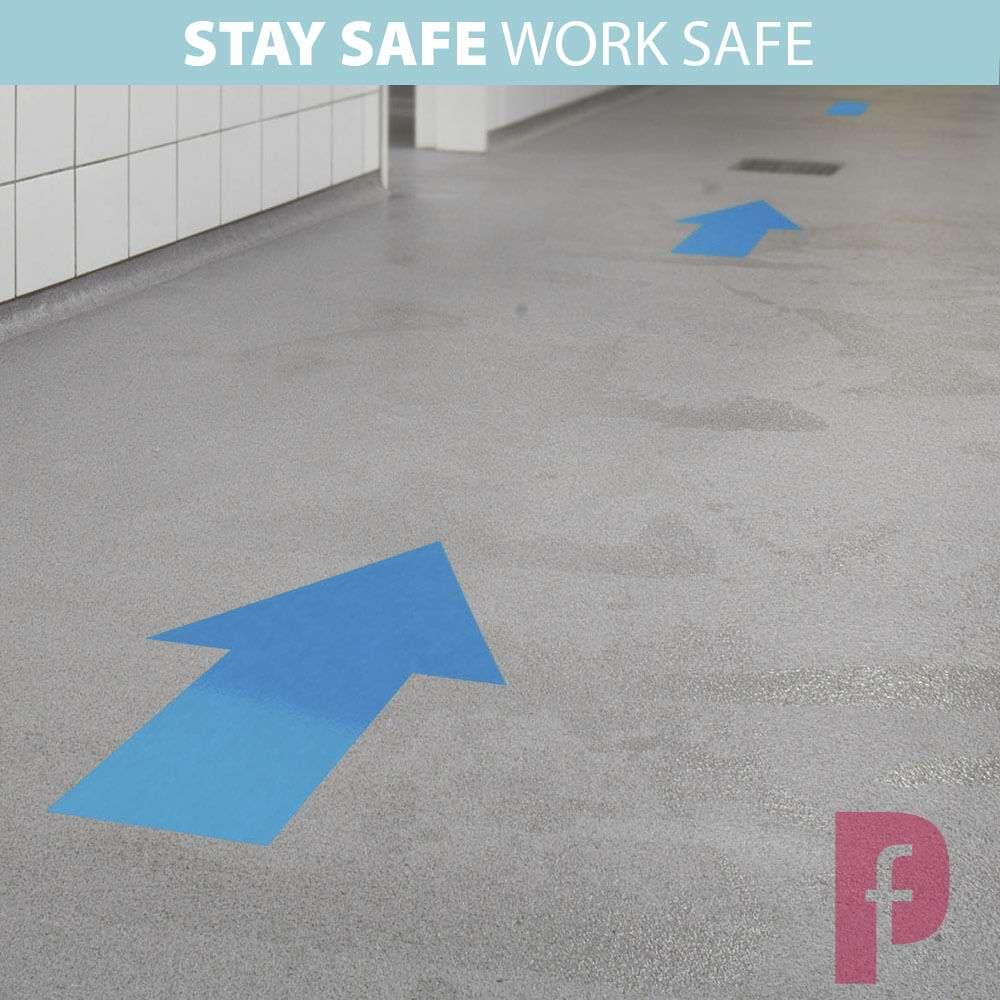Social Distancing Floor Arrows Stickers