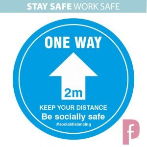 Social Distancing One Way System Floor Sticker