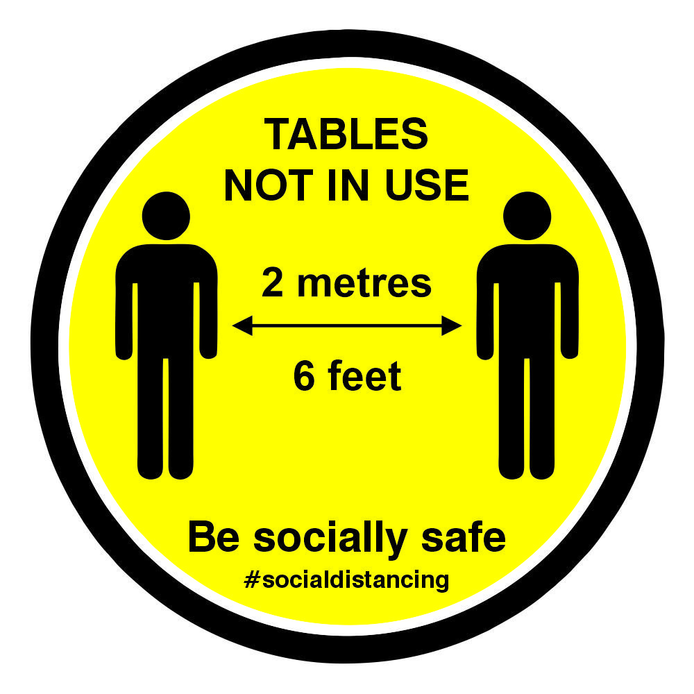 Social Distancing Table Stickers4