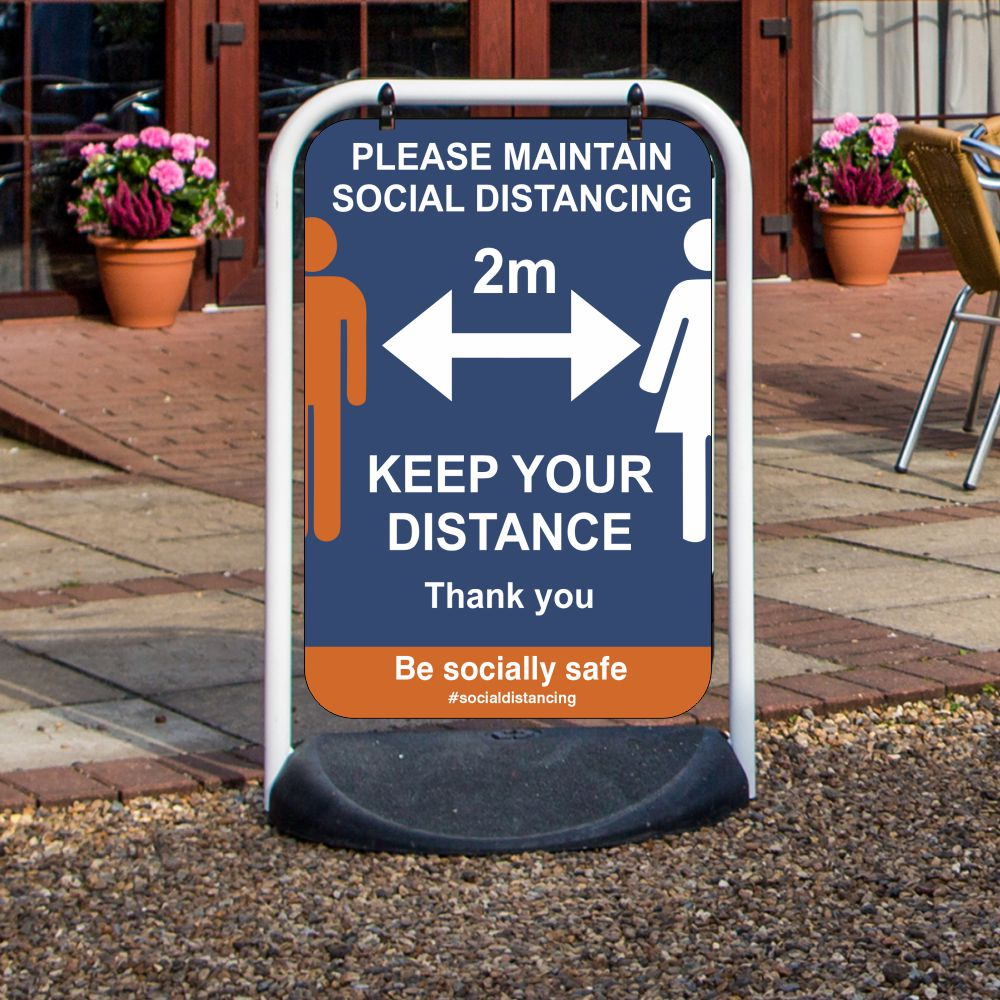 ocial Distancing Swinger Pavement Signs2