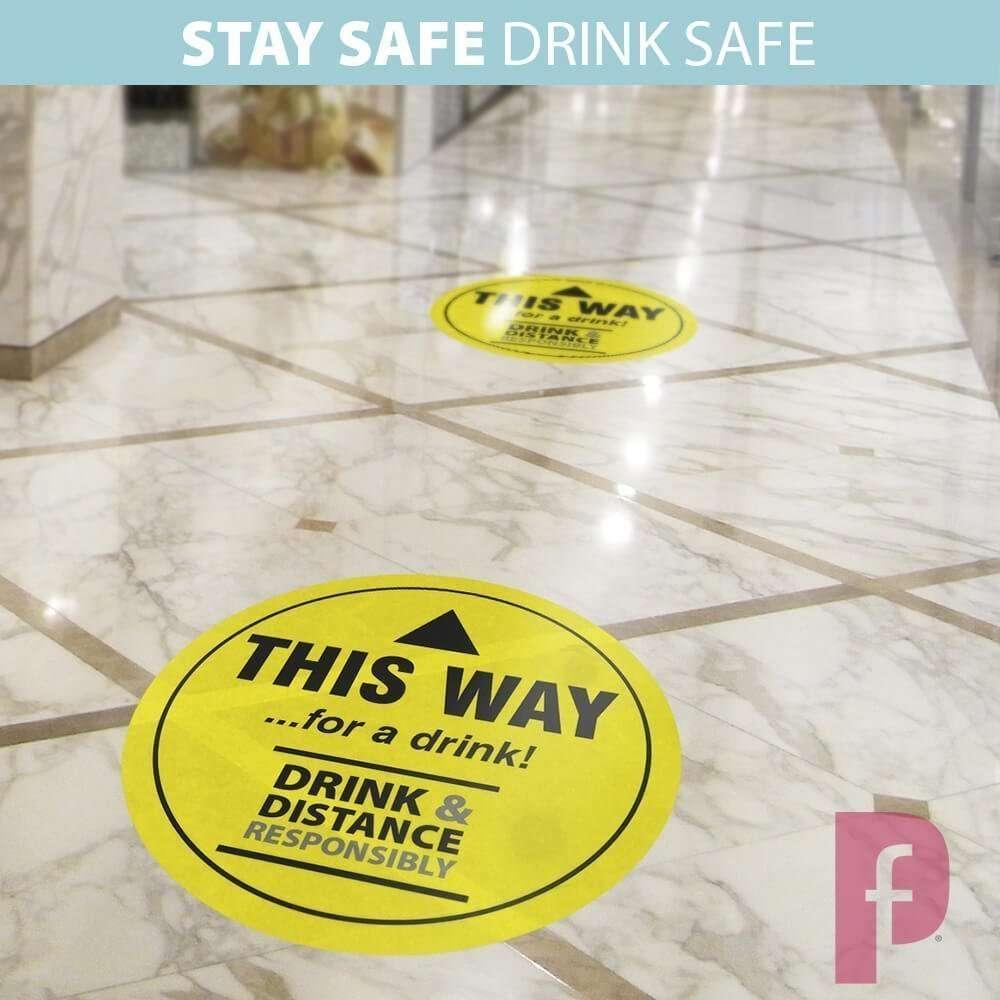 Pub Social Distancing Floor Stickers