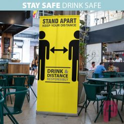 Pub Social Distancing Roller Banner