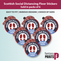 Scottish Floor Stickers Pack of 6