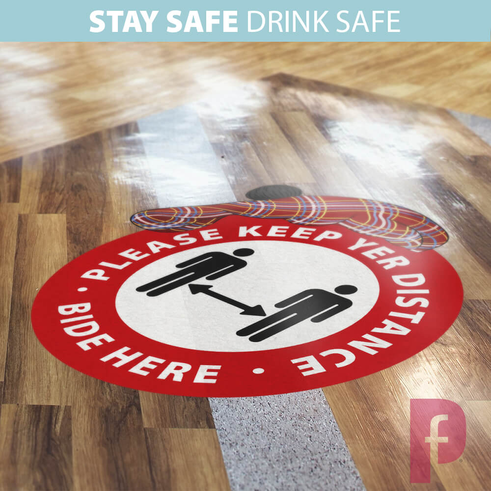 Scottish Social Distancing Floor Stickers3 | Fantasy Prints