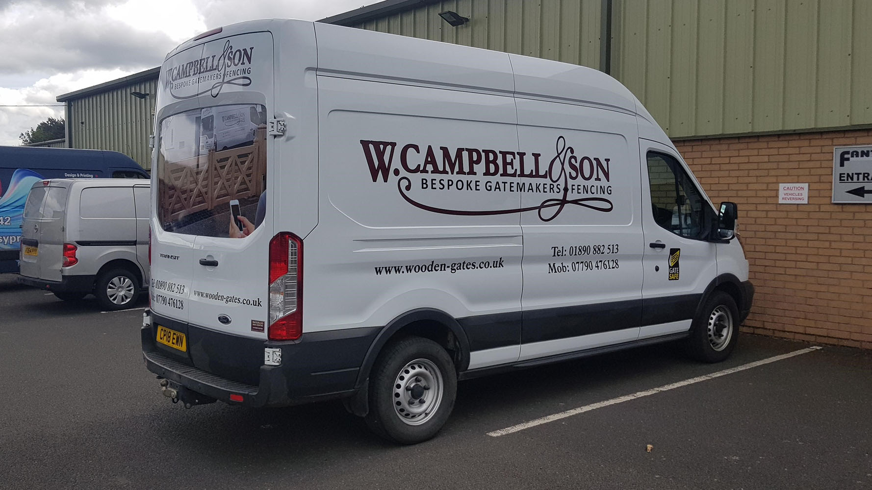 W Campbell & Son Van Livery