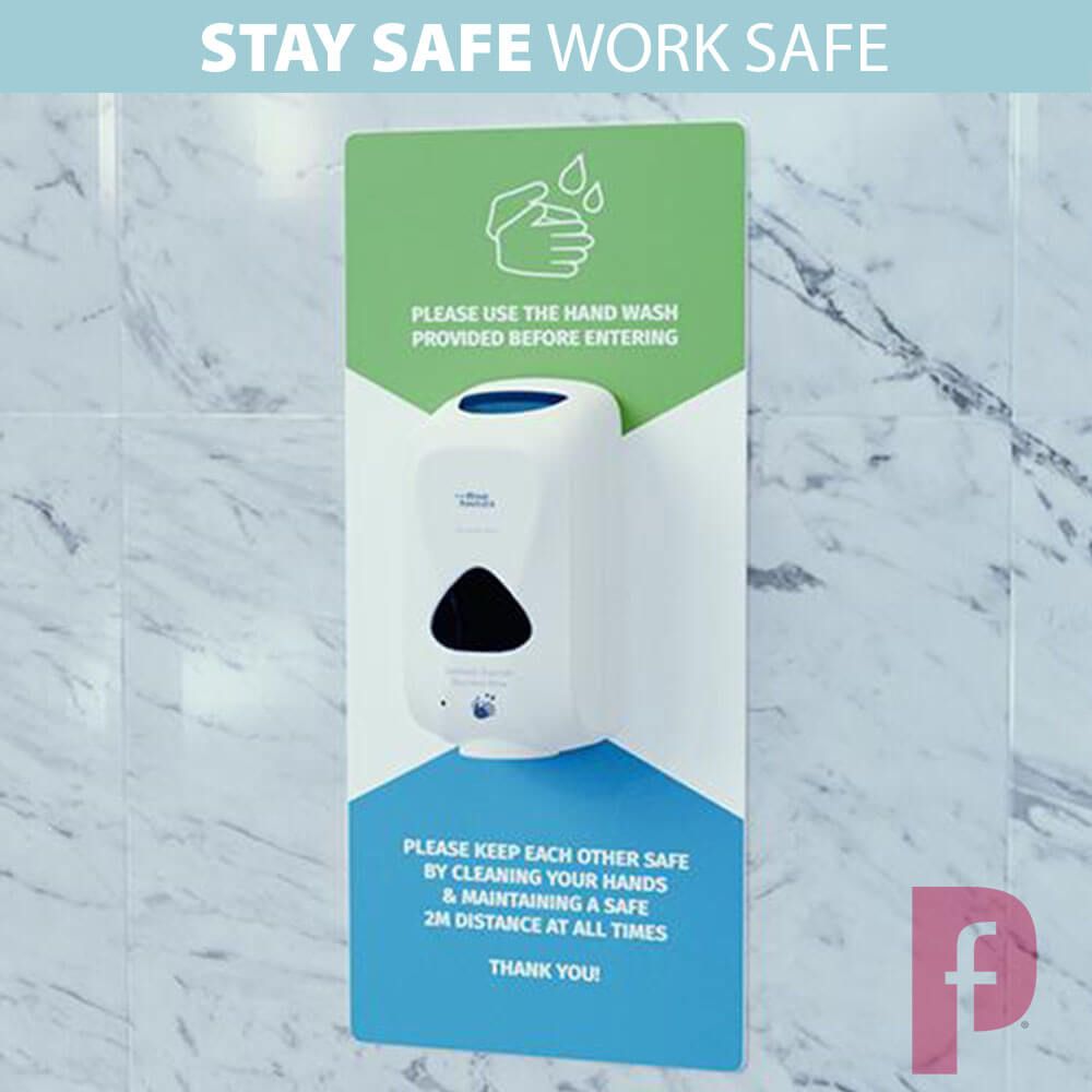 Wall Mounted Hand Sanitiser Stations Branded