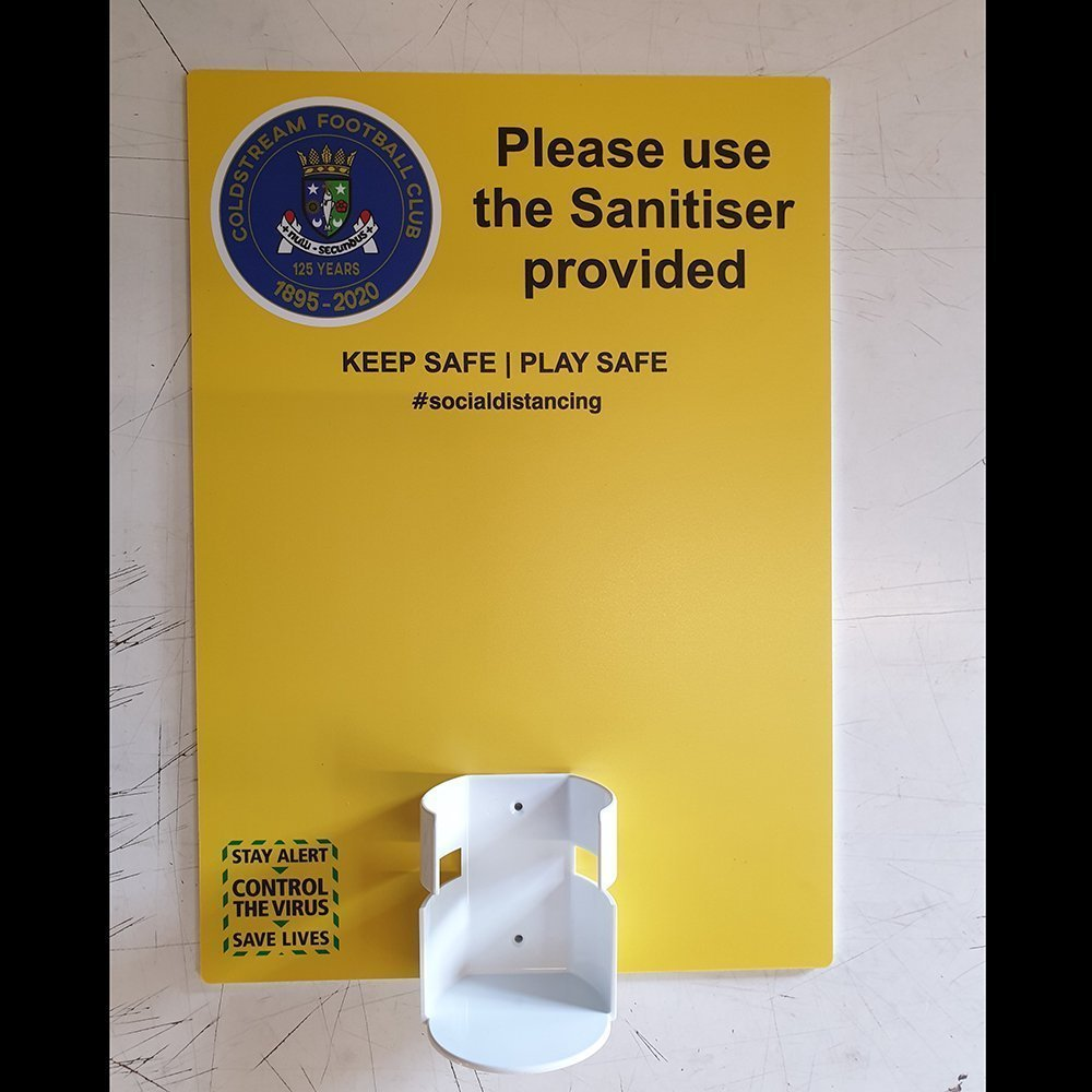 Coldstream Football Club Sanitising Wall Dispenser2