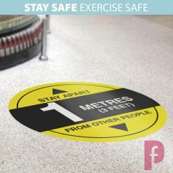 1m Floor Stickers for Gyms & Leisure Centres