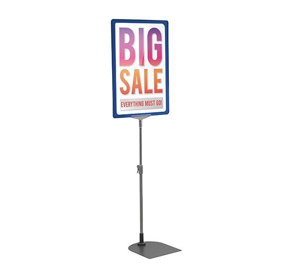 Blue A4 Poster Display Stand