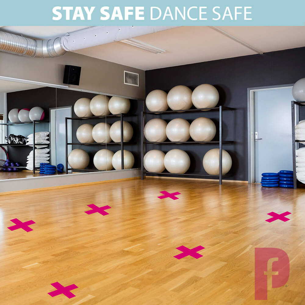 Dance Studio Cross Floor Stickers