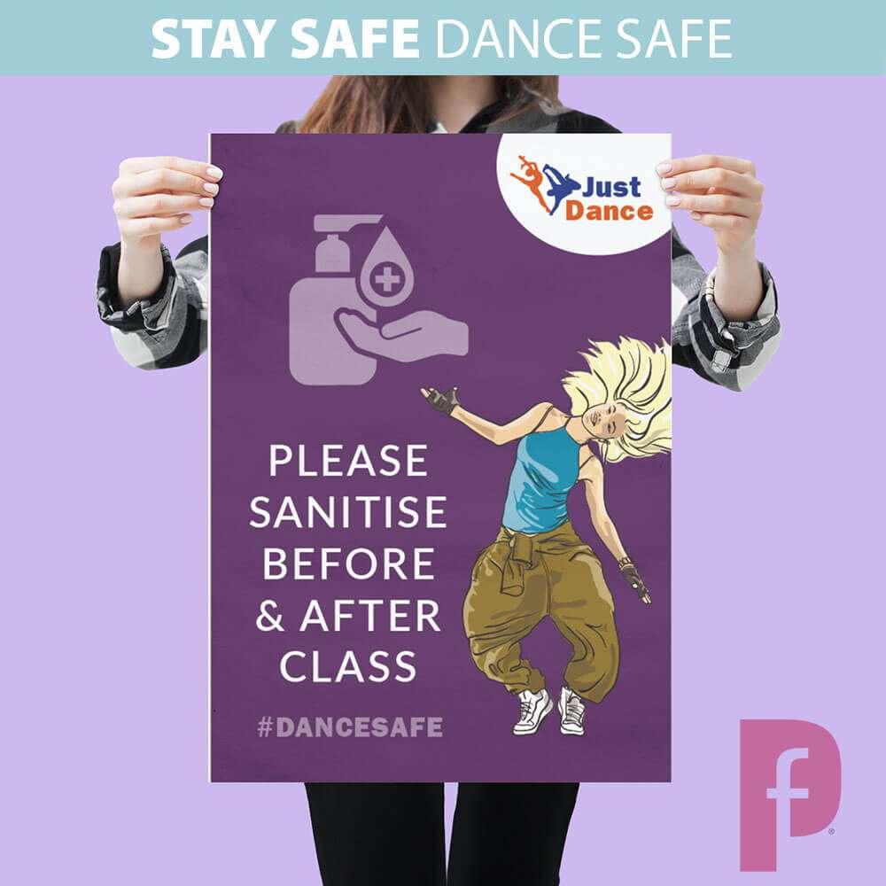 Dance Studio Sanitiser Poster