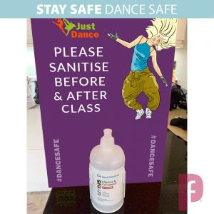 Dance Studio Sanitiser Wall Dispenser