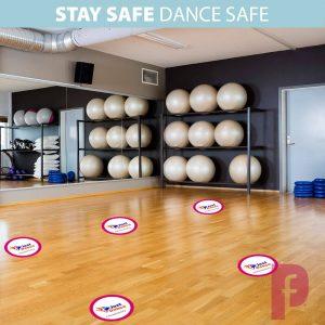 Dance Studio Social Distancing Floor Stickers