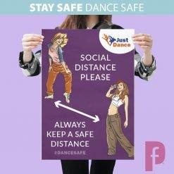 Dance Studio Social Distancing Poster