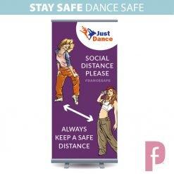 Dance Studio Social Distancing Roller Banner Stand