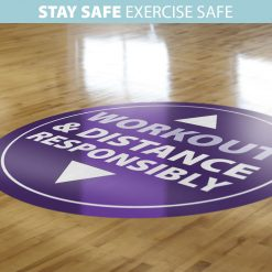 Floor Stickers for Gyms & Leisure Centres
