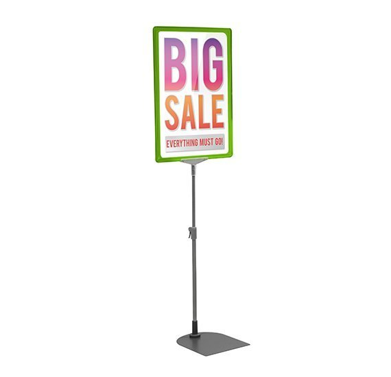 Green A4 Poster Display Stand