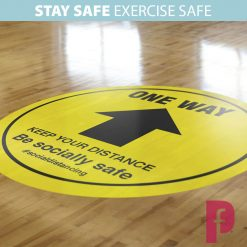 Gym One Way Floor Stickers