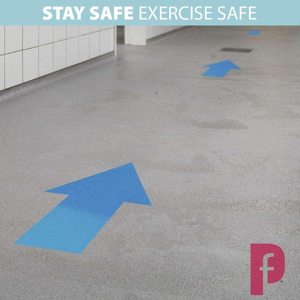 Gym Social Distancing Floor Arrows