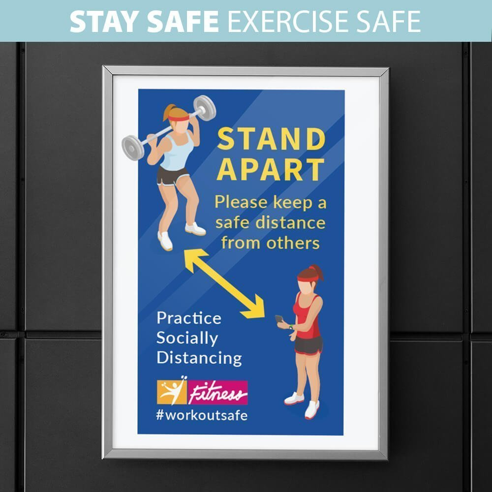 Gym Social Distancing Posters