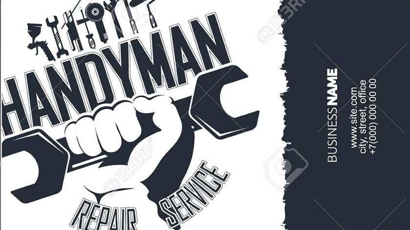 Handyman business card design