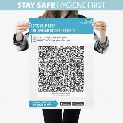 NHS COVID QR Code Signs PVC Foamex Washable Boards