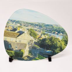 Personalised Printed Glass Chopping Board – Oval