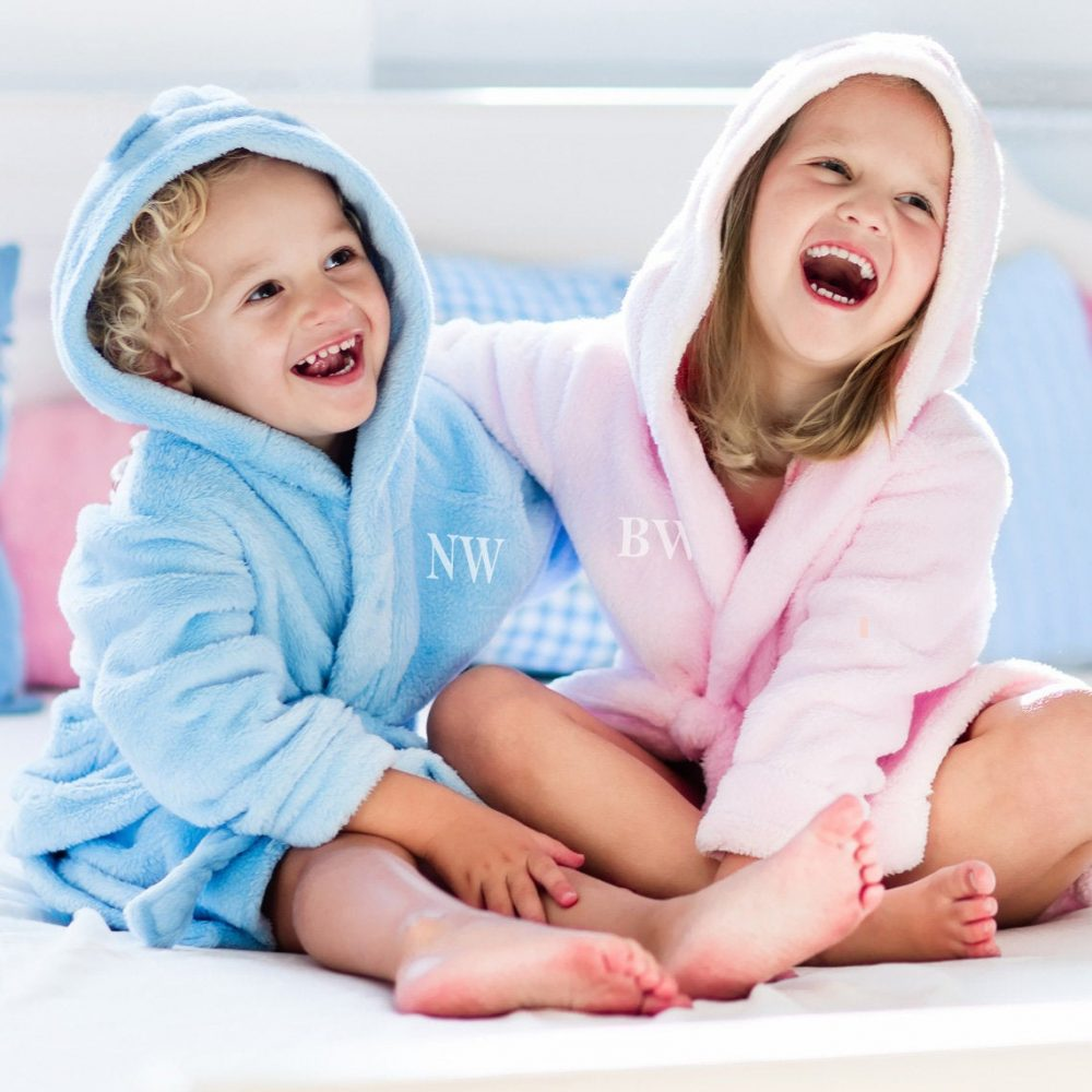 Kids Personalised Embroidered Dressing Gown - Bathrobe